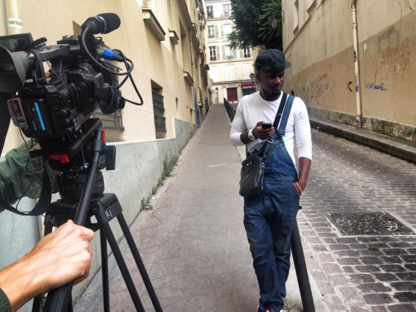 Black M en pleine interview