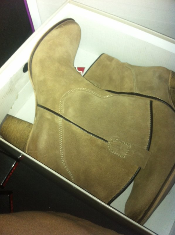 Mes new bottes pur cuir