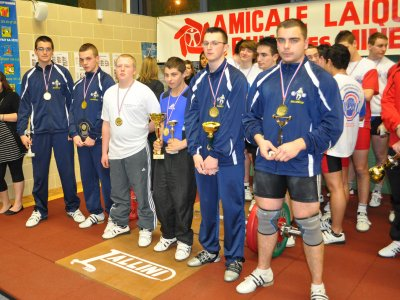 L'A.O.S Sallaumines domine le championnat du Pas-de-Calais d'haltérophilie