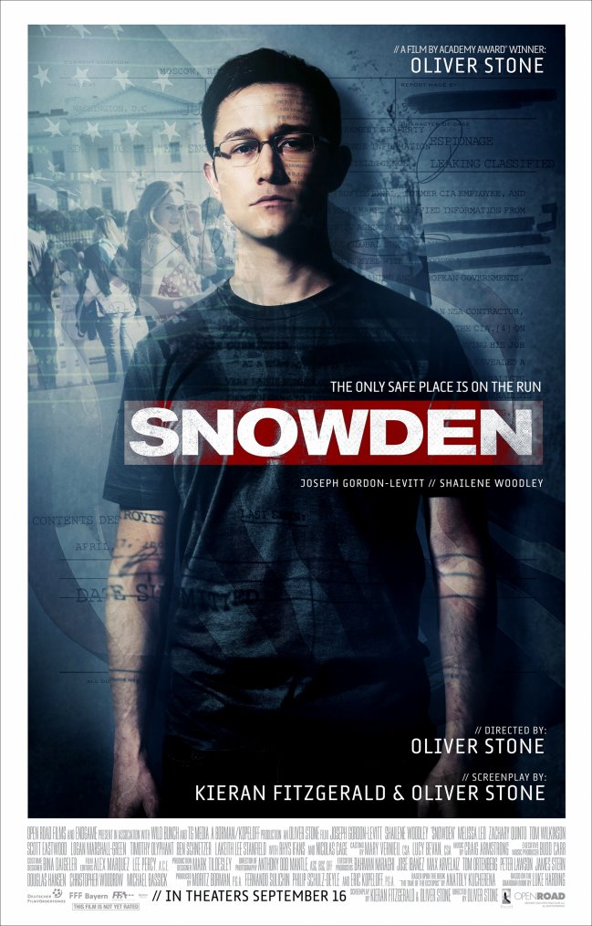 Snowden, by Oliver Stone
