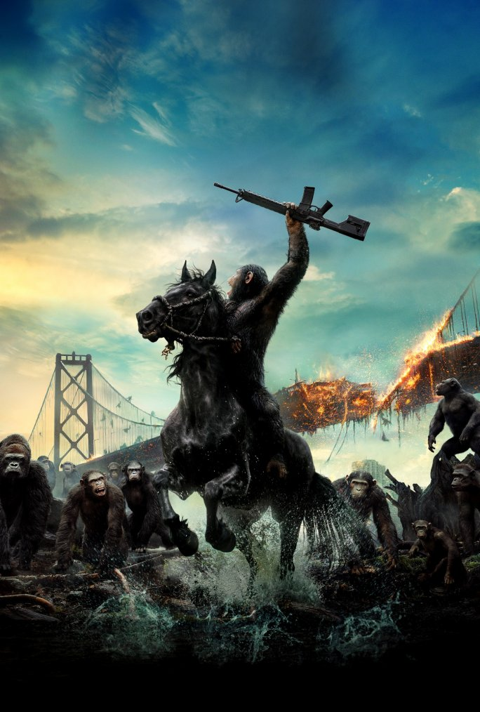 The rise and the dawn of the planet of the apes