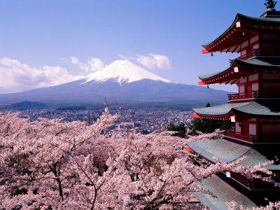 Le mont Fuji au Japon.