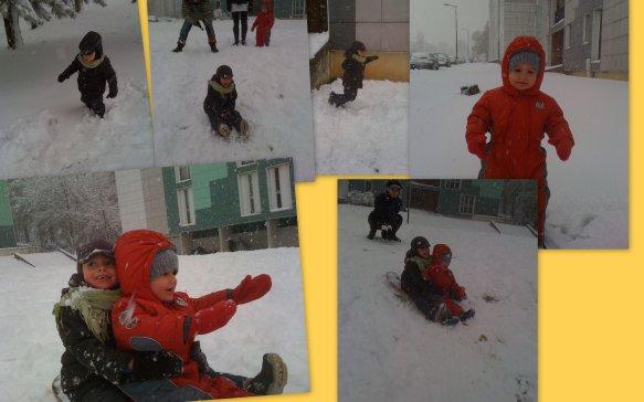 Une après-midi de neige.....
