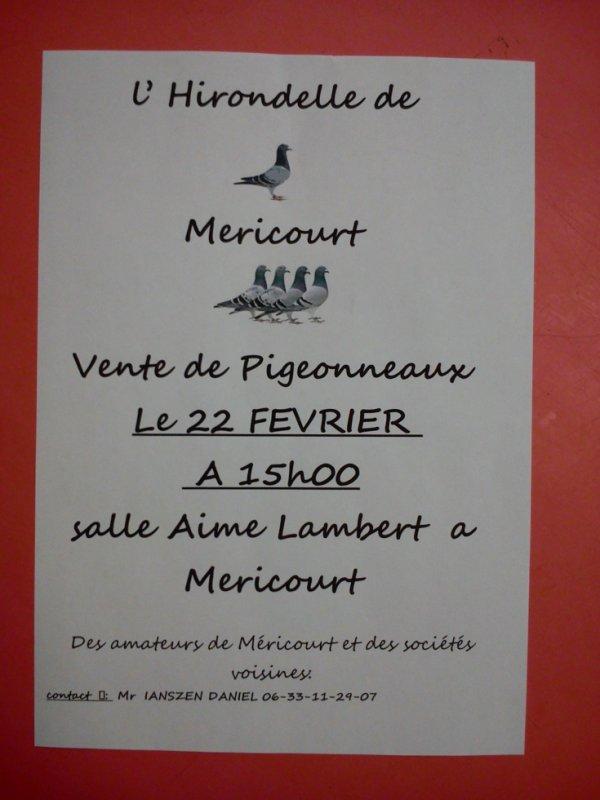 Vente annuelle de l'Hirondelle de Méricourt (ma société)
