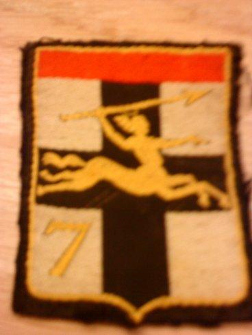 mon insigne francais de la 7eme brigade blinder leger.