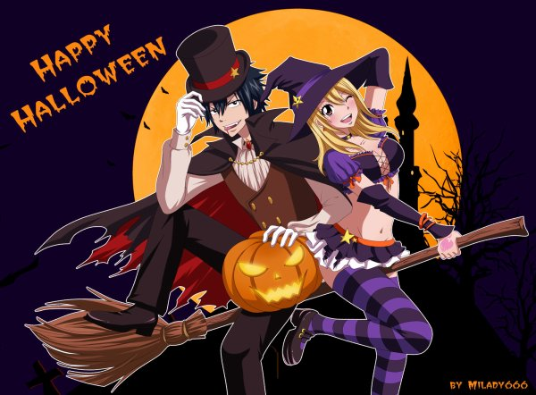 LES COUPLES DE FAIRY TAIL HALLOWEEN