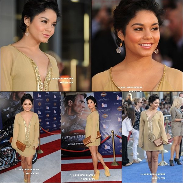 "_______________________________________________________________________________________19.07.2011: Vanessa a assisté à la premiere de ""Captain America: The First Avenger"" à Los Angeles. +Je n'aime pas beaucoup cette robe Jaune que Nessa a mise, mais j'adore son makeup alors un Bof es accordé.  _______________________________________________________________________________________"