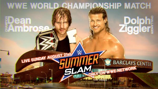 Dean Ambrose vs dolph ziggler. Summerslam 2016