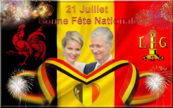 Bonne fête Nationale à tous mes compatriotes belges