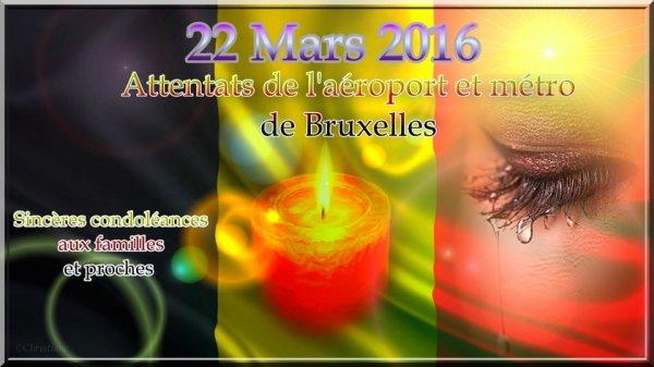 ATTENTATS DE BRUXELLES BELGIQUE