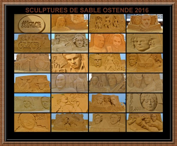 SCULPTURES DE SABLE 2016 A OSTENDE-BELGIQUE
