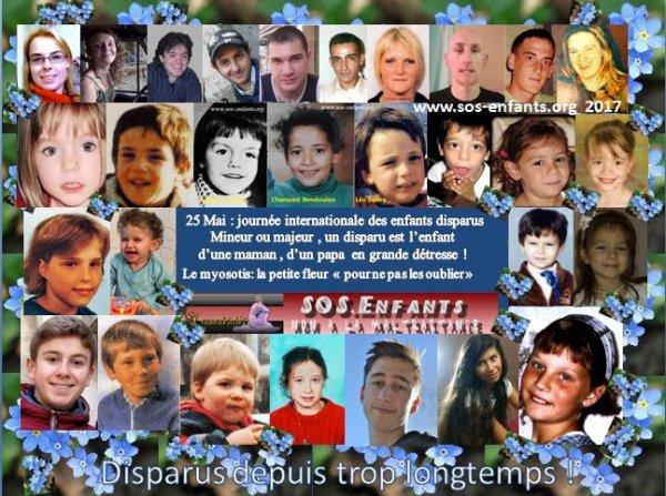25 MAI JOURNEE INTERNATIONALE DES ENFANTS DISPARUS