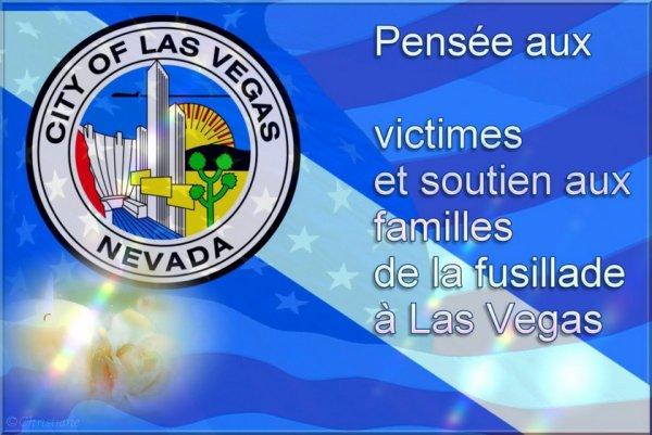 Hommage aux victimes de la fusillade de Las Vegas