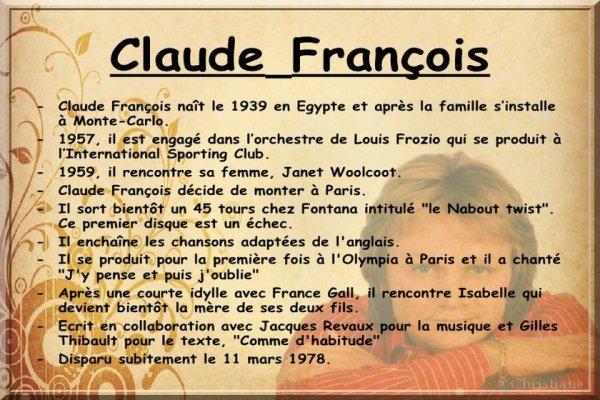 Claude François -Hommage