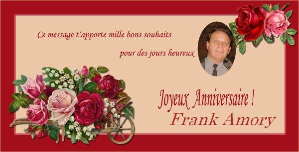 Joyeux Anniversaire à Frank Amory