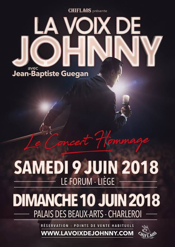 Jean-Baptiste Guégan-La voix de Johnny en concert en Belgique