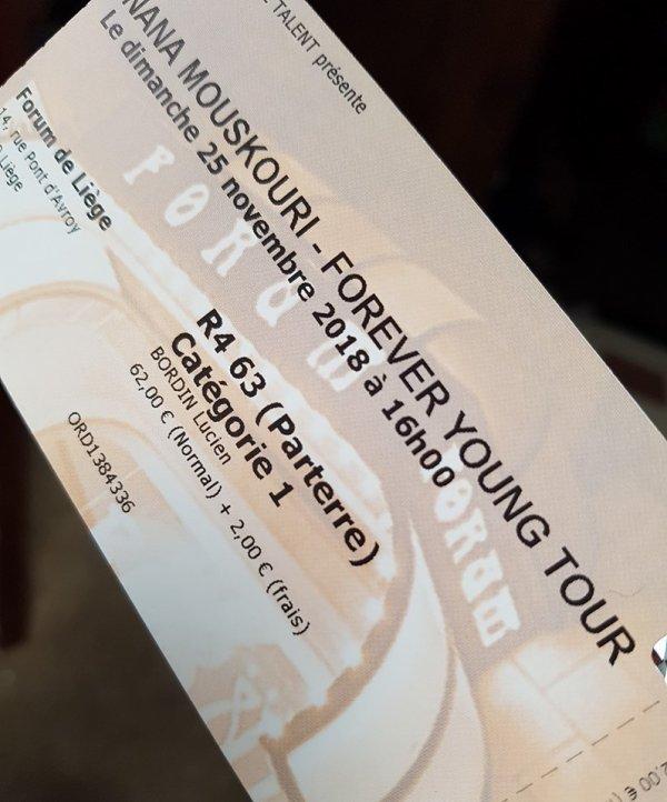 Concerts prochains réservé
