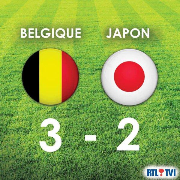 BELGIQUE-JAPON ... BRAVO LA BELGIQUE
