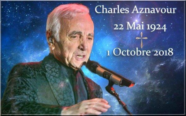 Hommage Charles Aznavour aux invalides -Paris