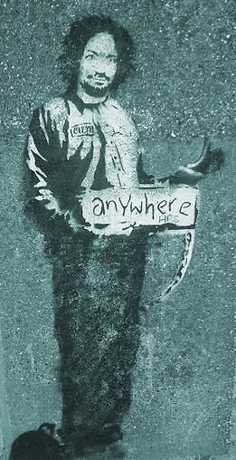 Hitchhiker to anywhere (Banksy)
