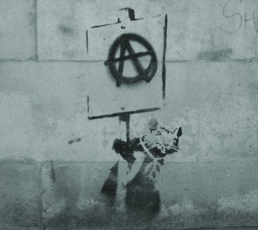 anarchist rat / banksy