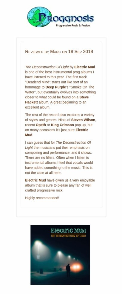 """One of the best instrumental prog albums I have listened to this year"""