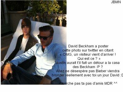 ♥ David Beckham : Pause Bronzette Avec Justin !