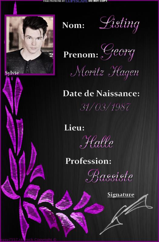 Biographie de Georg.