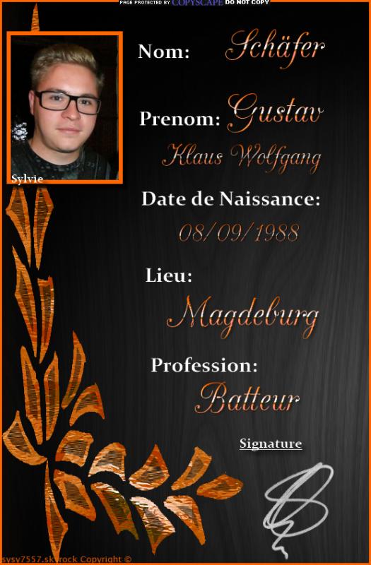 Biographie de Gustav.