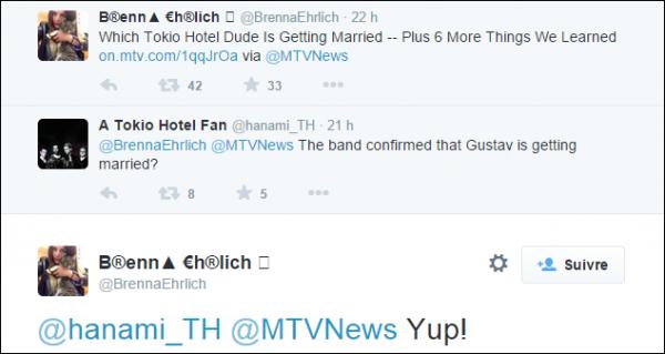 Mariage de Gustav confirmé par la journaliste d'MTV...