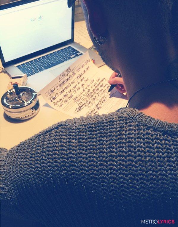 Concours gagner les paroles écrites main de Tokio Hotel LWLYB