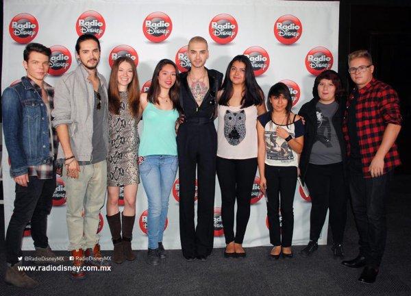 Tokio Hotel avec leur fans Radio Disney México