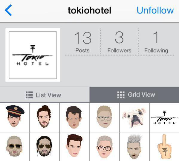 Facebook et Twitter Tokio Hotel...