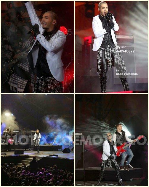 Performance Tokio Hotel porte de Brandebourg...