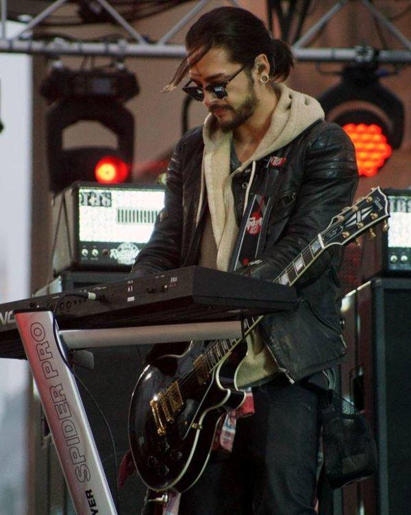Tokio Hotel à la porte de Brandebourg...