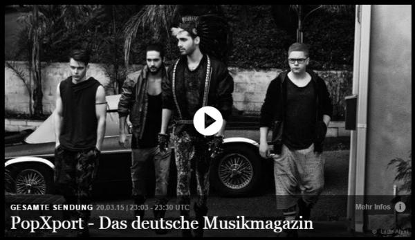 PopXport – Tokio Hotel en tournée dans les clubs à travers l'Europe
