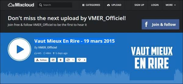 """Tokio Hotel sur mixcloud.com """"Vaut Mieux En Rire""""..."""
