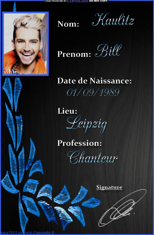 Bill Kaulitz.