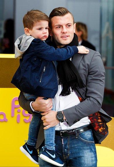 jack wilshere et son fils archie