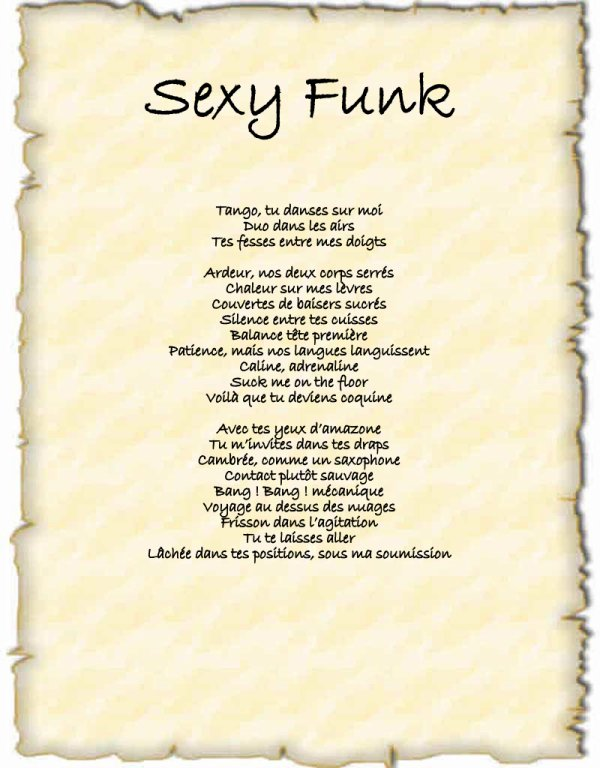 POEME FUNKY SEXY
