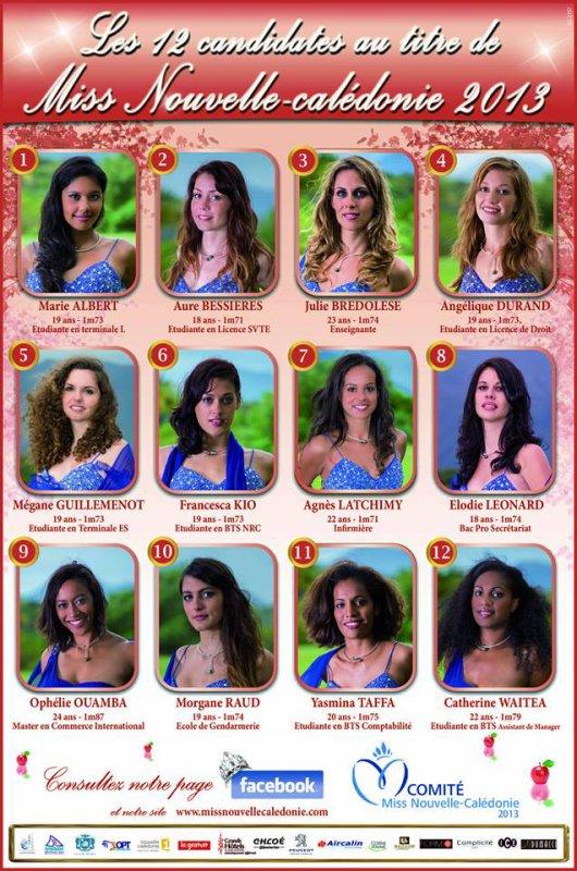 Election de la Miss Nouvelle Calédonie du blog !