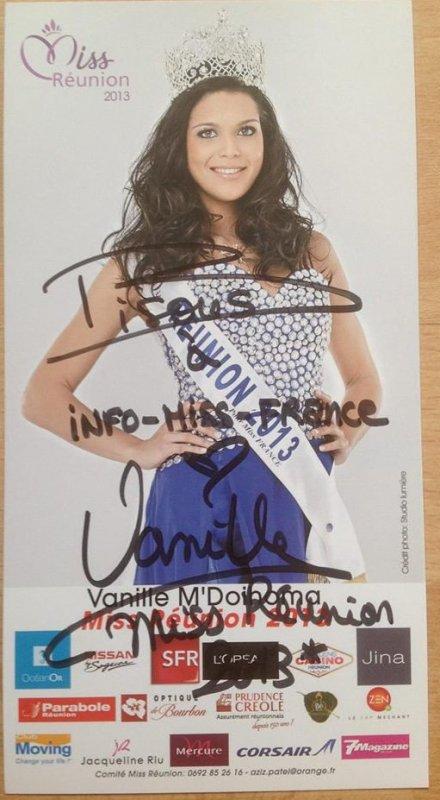 Dédicace de Miss Réunion, Vanille M'Doihoma