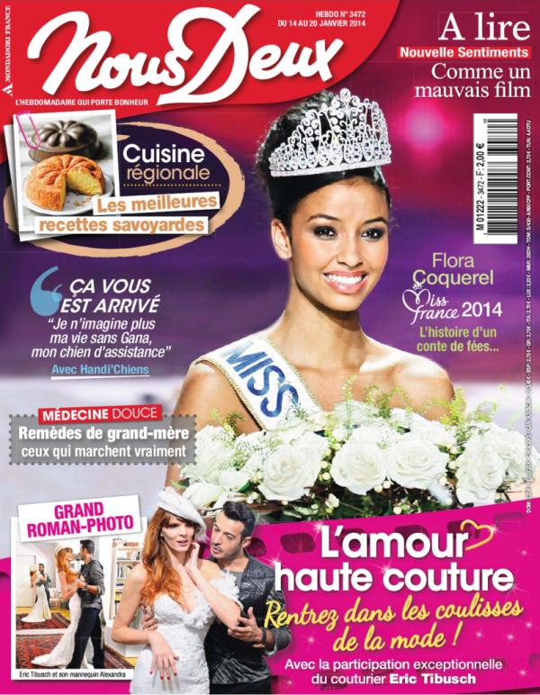 """Flora dans le magazine """"Nous Deux"""""""