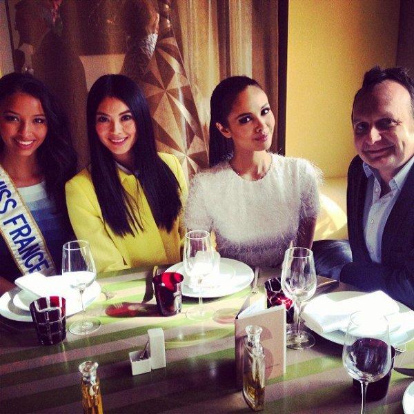 Trois reines de beauté à Paris !