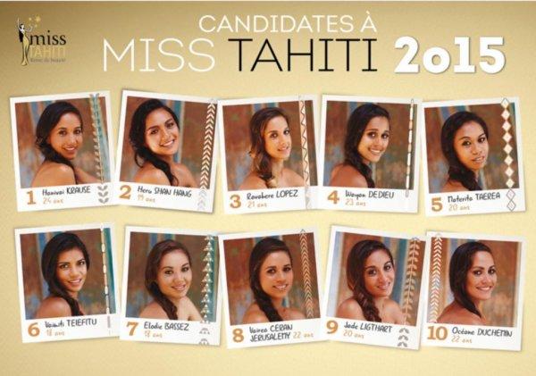Miss Tahiti 2015 : Votez pour votre favorite !