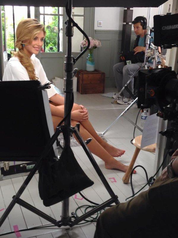 Camille en tournage !