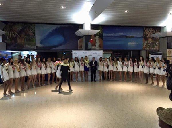 Les Miss sont arrivées à Tahiti !