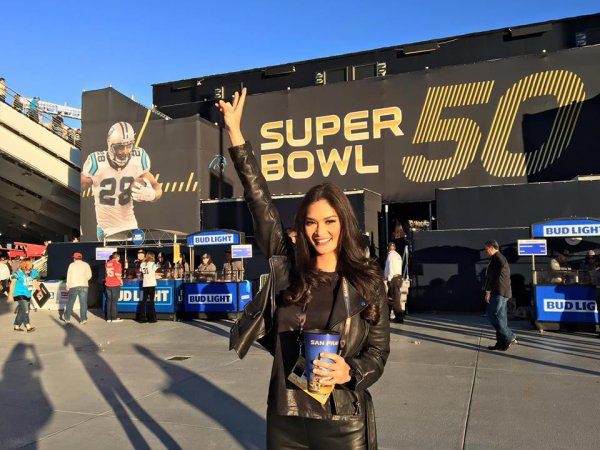 Pia assiste au Superbowl !