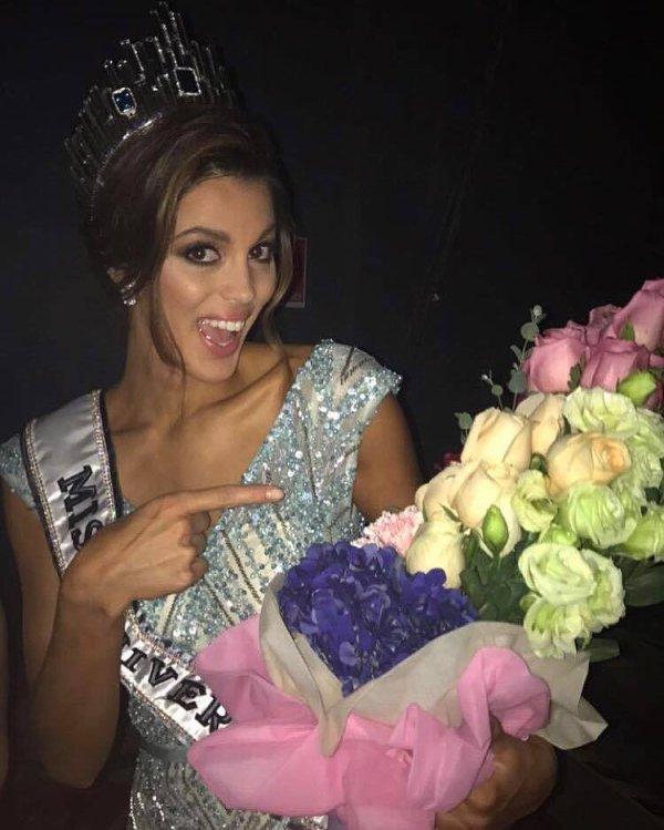 Iris à l'after party de Miss Univers !
