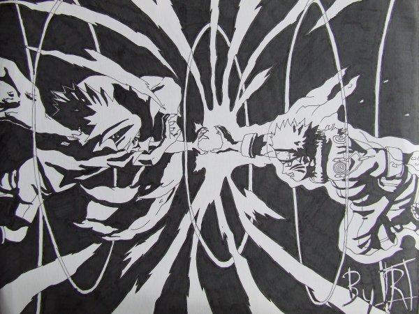 Naruto Vs Sasuke Mes Dessins